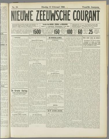 Nieuwe Zeeuwsche Courant 1916-02-22