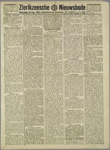 Zierikzeesche Nieuwsbode 1922-08-30