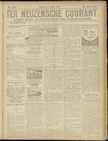 Ter Neuzensche Courant. Algemeen Nieuws- en Advertentieblad voor Zeeuwsch-Vlaanderen / Neuzensche Courant ... (idem) / (Algemeen) nieuws en advertentieblad voor Zeeuwsch-Vlaanderen 1928-04-13