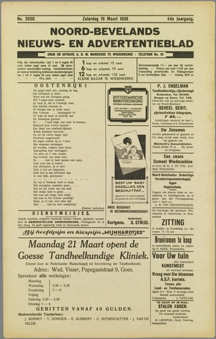 Noord-Bevelands Nieuws- en advertentieblad 1938-03-19
