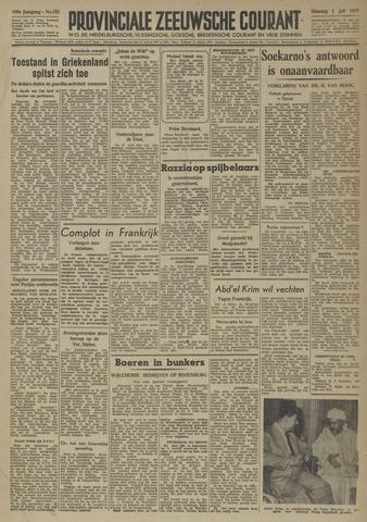Provinciale Zeeuwse Courant 1947-07-01