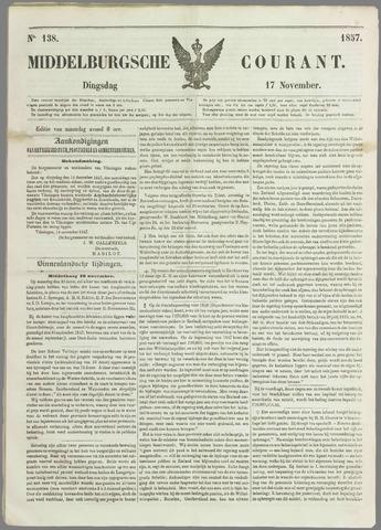 Middelburgsche Courant 1857-11-17