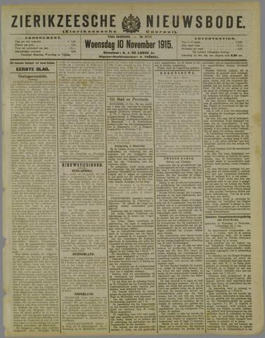 Zierikzeesche Nieuwsbode 1915-11-10