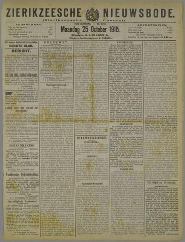 Zierikzeesche Nieuwsbode 1915-10-25