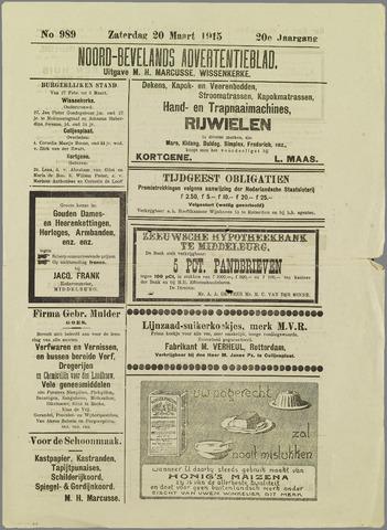 Noord-Bevelands Nieuws- en advertentieblad 1915-03-20