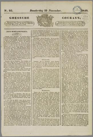 Goessche Courant 1849-11-15