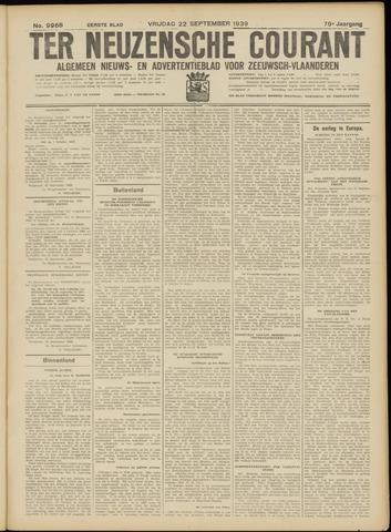 Ter Neuzensche Courant. Algemeen Nieuws- en Advertentieblad voor Zeeuwsch-Vlaanderen / Neuzensche Courant ... (idem) / (Algemeen) nieuws en advertentieblad voor Zeeuwsch-Vlaanderen 1939-09-22