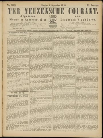 Ter Neuzensche Courant. Algemeen Nieuws- en Advertentieblad voor Zeeuwsch-Vlaanderen / Neuzensche Courant ... (idem) / (Algemeen) nieuws en advertentieblad voor Zeeuwsch-Vlaanderen 1910-09-06