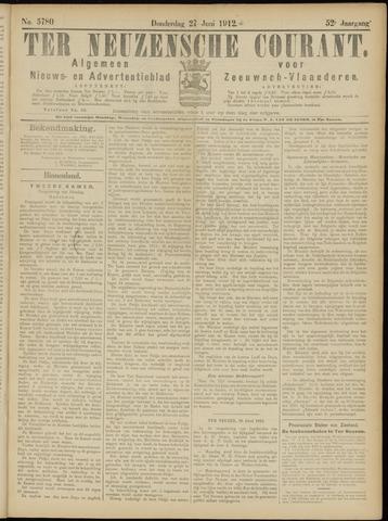 Ter Neuzensche Courant. Algemeen Nieuws- en Advertentieblad voor Zeeuwsch-Vlaanderen / Neuzensche Courant ... (idem) / (Algemeen) nieuws en advertentieblad voor Zeeuwsch-Vlaanderen 1912-06-27