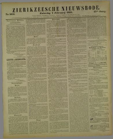 Zierikzeesche Nieuwsbode 1889-02-02
