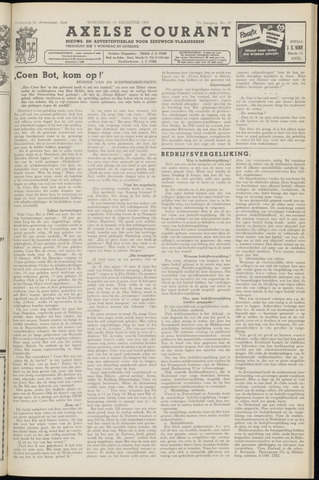 Axelsche Courant 1957-08-14