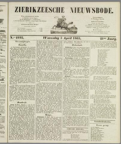 Zierikzeesche Nieuwsbode 1865-04-05