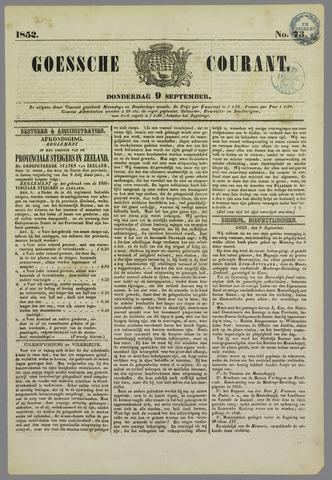 Goessche Courant 1852-09-09