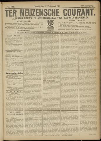 Ter Neuzensche Courant. Algemeen Nieuws- en Advertentieblad voor Zeeuwsch-Vlaanderen / Neuzensche Courant ... (idem) / (Algemeen) nieuws en advertentieblad voor Zeeuwsch-Vlaanderen 1916-02-17