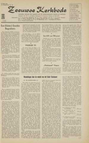 Zeeuwsche kerkbode, weekblad gewijd aan de belangen der gereformeerde kerken/ Zeeuwsch kerkblad 1963-06-28