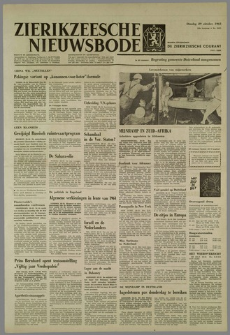 Zierikzeesche Nieuwsbode 1963-10-29
