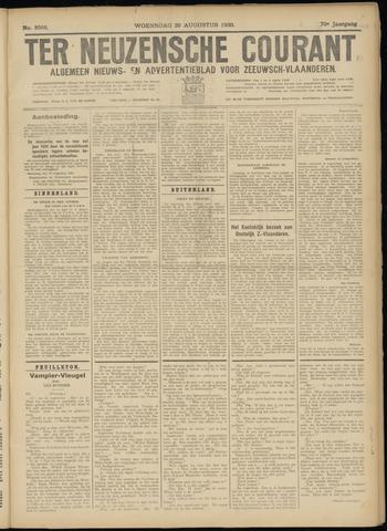 Ter Neuzensche Courant. Algemeen Nieuws- en Advertentieblad voor Zeeuwsch-Vlaanderen / Neuzensche Courant ... (idem) / (Algemeen) nieuws en advertentieblad voor Zeeuwsch-Vlaanderen 1930-08-20