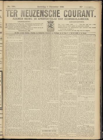Ter Neuzensche Courant. Algemeen Nieuws- en Advertentieblad voor Zeeuwsch-Vlaanderen / Neuzensche Courant ... (idem) / (Algemeen) nieuws en advertentieblad voor Zeeuwsch-Vlaanderen 1920-12-11
