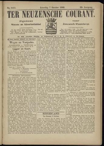 Ter Neuzensche Courant. Algemeen Nieuws- en Advertentieblad voor Zeeuwsch-Vlaanderen / Neuzensche Courant ... (idem) / (Algemeen) nieuws en advertentieblad voor Zeeuwsch-Vlaanderen 1882-10-07