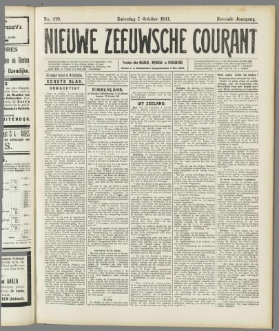 Nieuwe Zeeuwsche Courant 1911-10-07