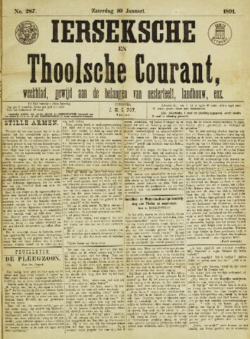 Ierseksche en Thoolsche Courant 1891-01-10