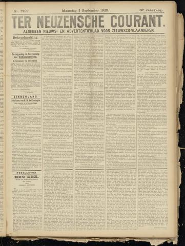 Ter Neuzensche Courant. Algemeen Nieuws- en Advertentieblad voor Zeeuwsch-Vlaanderen / Neuzensche Courant ... (idem) / (Algemeen) nieuws en advertentieblad voor Zeeuwsch-Vlaanderen 1923-09-03
