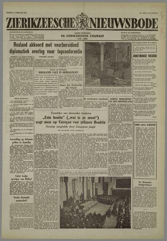 Zierikzeesche Nieuwsbode 1958-02-04