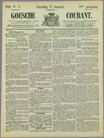 Goessche Courant 1891-01-17