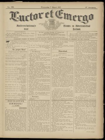 Luctor et Emergo. Antirevolutionair nieuws- en advertentieblad voor Zeeland / Zeeuwsch-Vlaanderen. Orgaan ter verspreiding van de christelijke beginselen in Zeeuwsch-Vlaanderen 1917-03-07