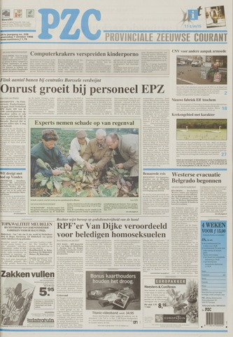 Provinciale Zeeuwse Courant 1998-10-07
