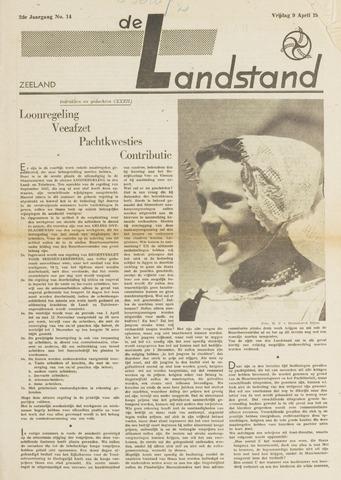 De landstand in Zeeland, geïllustreerd weekblad. 1943-04-09
