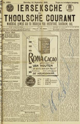 Ierseksche en Thoolsche Courant 1912-09-14