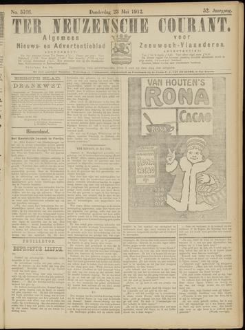 Ter Neuzensche Courant. Algemeen Nieuws- en Advertentieblad voor Zeeuwsch-Vlaanderen / Neuzensche Courant ... (idem) / (Algemeen) nieuws en advertentieblad voor Zeeuwsch-Vlaanderen 1912-05-23
