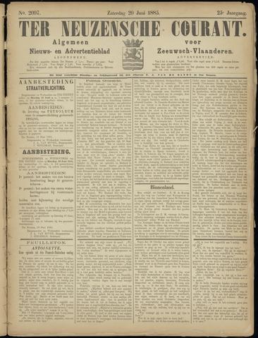 Ter Neuzensche Courant. Algemeen Nieuws- en Advertentieblad voor Zeeuwsch-Vlaanderen / Neuzensche Courant ... (idem) / (Algemeen) nieuws en advertentieblad voor Zeeuwsch-Vlaanderen 1885-06-20