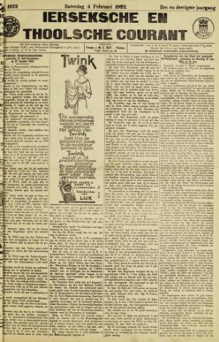 Ierseksche en Thoolsche Courant 1922-02-04