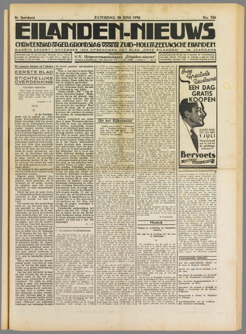 Eilanden-nieuws. Christelijk streekblad op gereformeerde grondslag 1936-06-20
