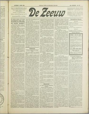 De Zeeuw. Christelijk-historisch nieuwsblad voor Zeeland 1934-04-07