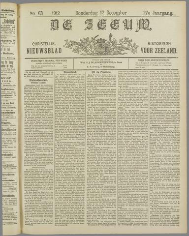 De Zeeuw. Christelijk-historisch nieuwsblad voor Zeeland 1912-12-12