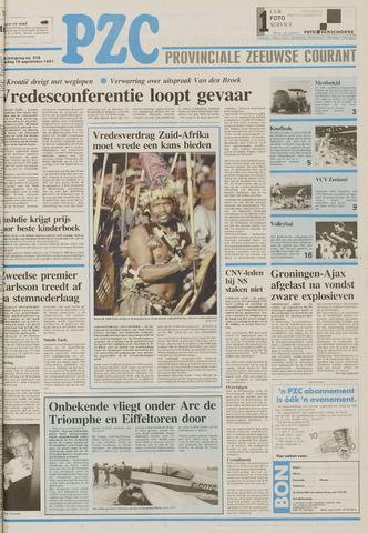 Provinciale Zeeuwse Courant 1991-09-16