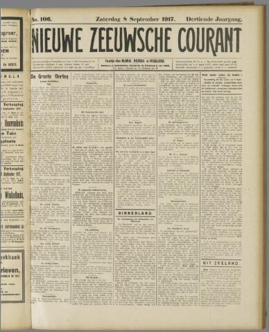 Nieuwe Zeeuwsche Courant 1917-09-08