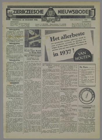 Zierikzeesche Nieuwsbode 1936-12-30