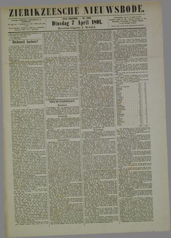 Zierikzeesche Nieuwsbode 1891-04-07