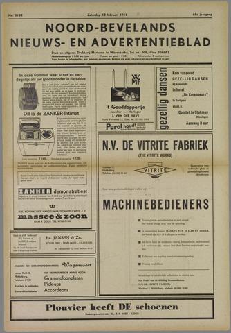 Noord-Bevelands Nieuws- en advertentieblad 1965-02-13