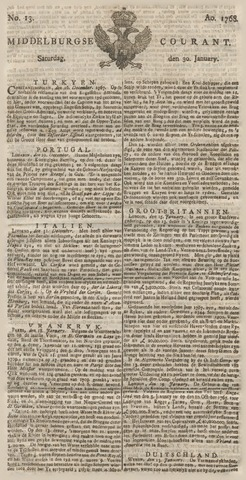 Middelburgsche Courant 1768-01-30