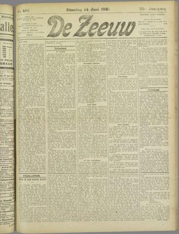 De Zeeuw. Christelijk-historisch nieuwsblad voor Zeeland 1921-06-14