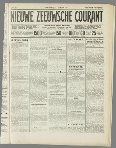 Nieuwe Zeeuwsche Courant 1917-01-04
