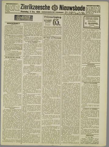 Zierikzeesche Nieuwsbode 1924-12-03