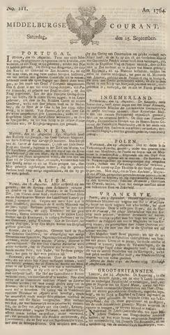 Middelburgsche Courant 1764-09-15