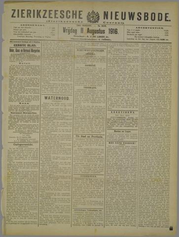 Zierikzeesche Nieuwsbode 1916-08-11