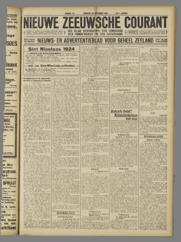 Nieuwe Zeeuwsche Courant 1924-11-25